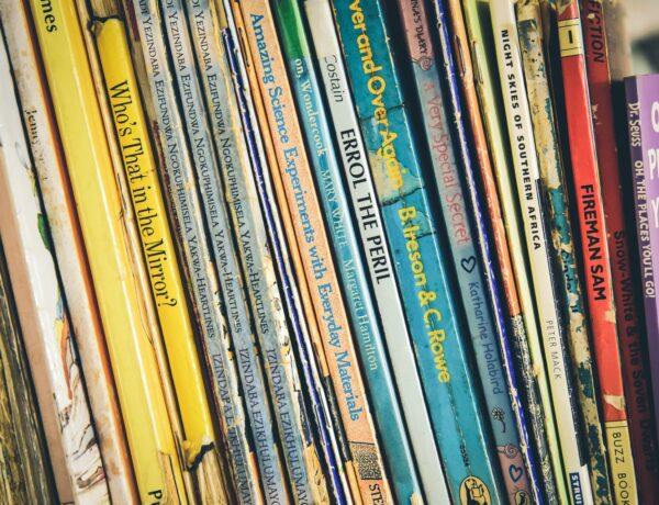 una fila di libri