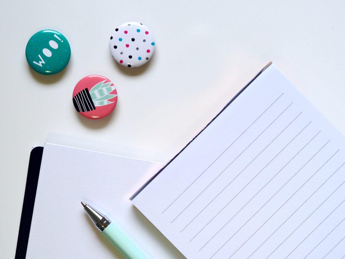 un quaderno per prendere appunti
