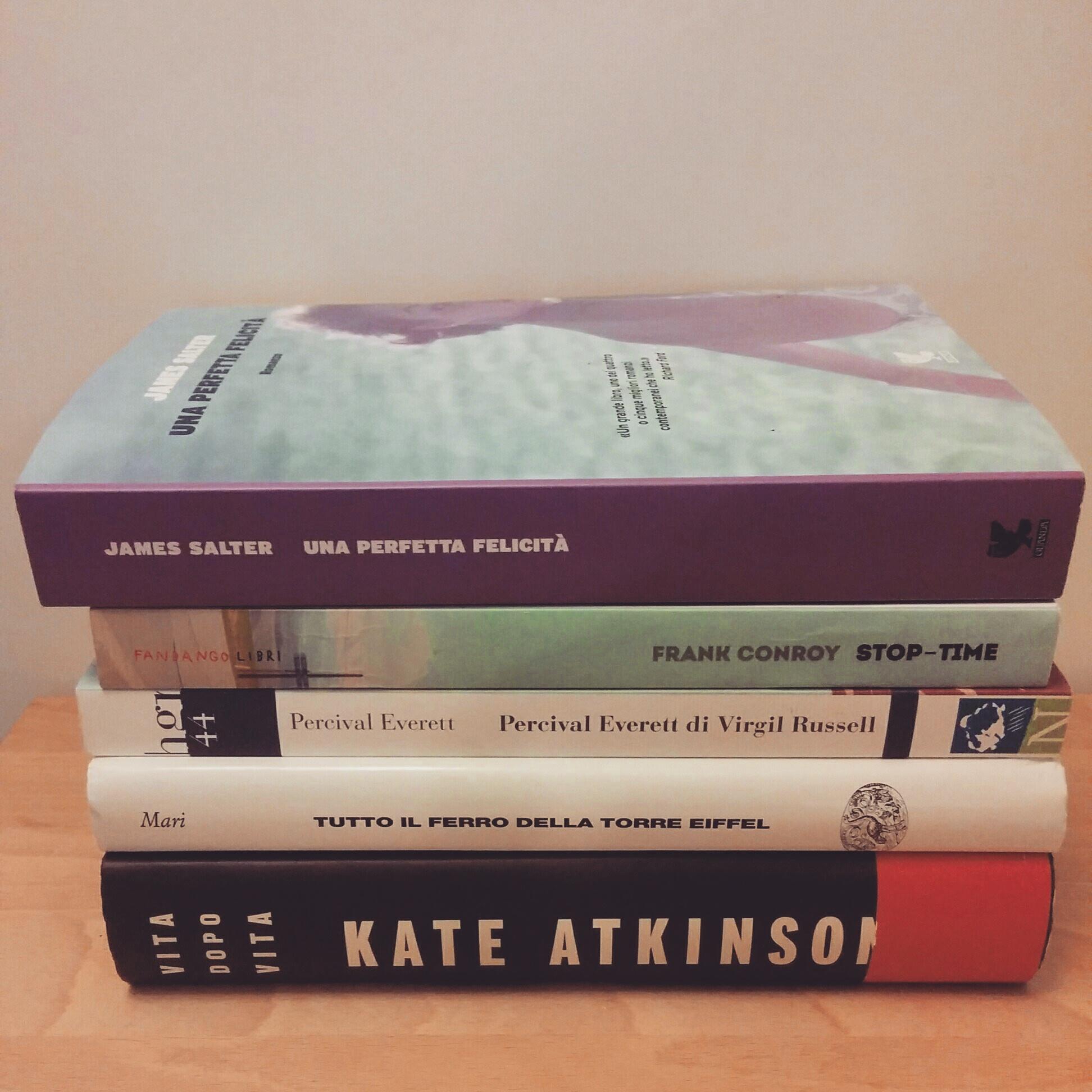 cinque libri nuovi da leggere