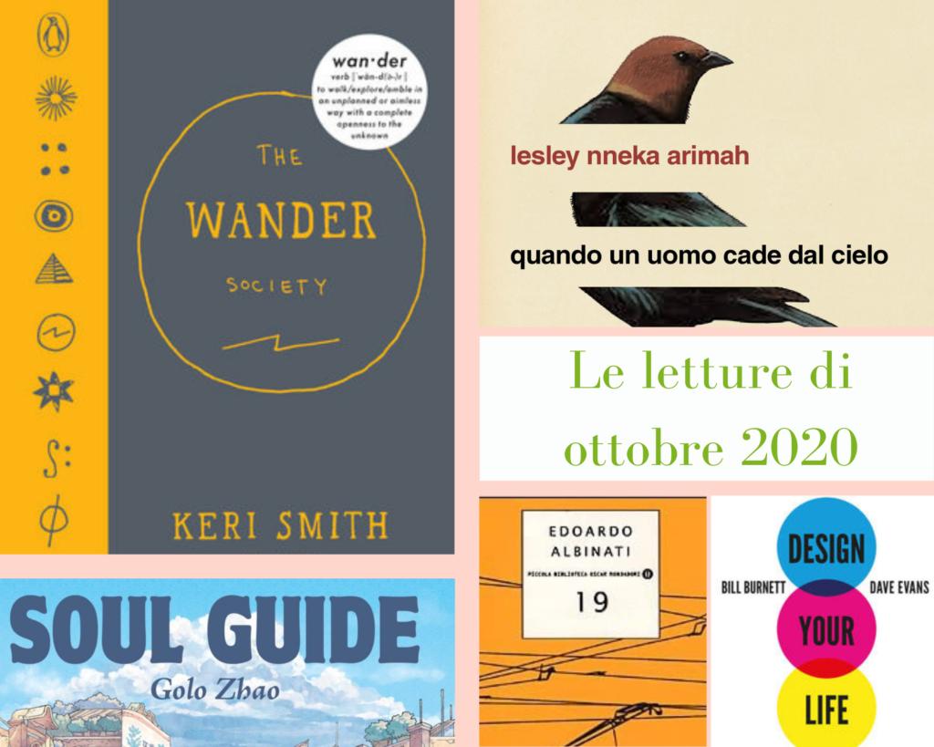 copertine dei libri the wander society, quando un uomo cade dal cielo, soul guide, 19 e design your life