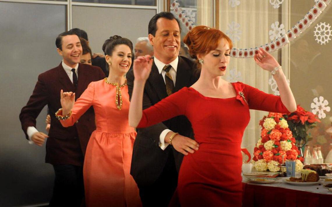 festa di natale in una puntata della serie mad men