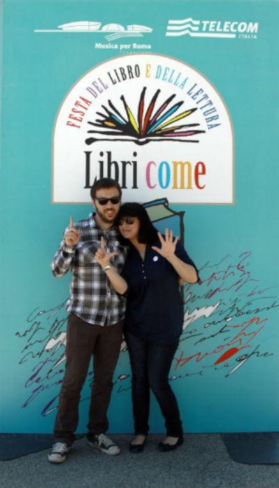 andrea e valentina a libri come a roma nel 2011